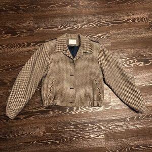 Vintage Pendleton houndstooth wool short coat