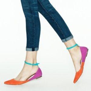 [Shoemint] Colorblock Suede Flats