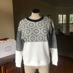 ZARA Geometric Abstract Print Knit Pullover