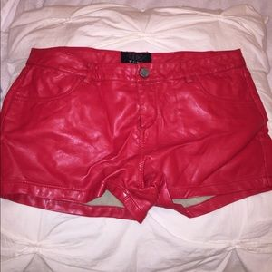 TCEC women's faux leather shorts.