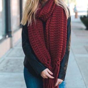 Accessories - Chunky Knit Tassel Scarf