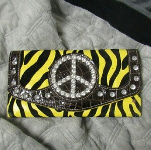 Bling Zebra wallet
