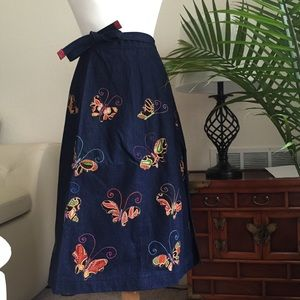 Dresses & Skirts - Handmade Navy Blue Long Denim Skirt