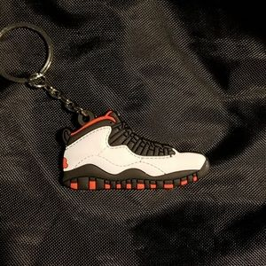 huge selection of 1510f 3c127 Adidas Nmd Tricolor Black shoe keychain Jordan 10 Retro Chicago Bulls shoe  keychain Air ...