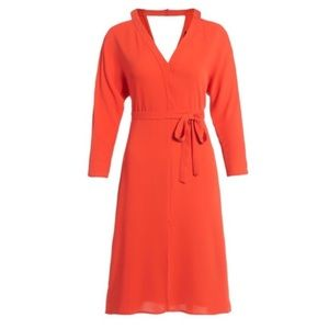 Topshop Orange Cold Shoulder Dress Size 6