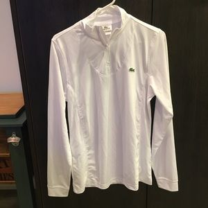 Lacoste Sport long sleeve white top