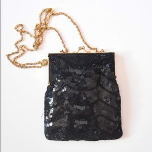 VINTAGE 80's sequin clutch bag