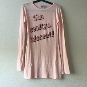 "Wildfox ""im really a mermaid"" dress small"