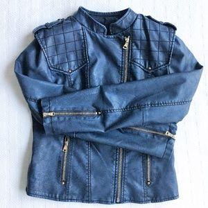 Jackets & Blazers - SALE! 🎉 BRAND NEW! Blue Leather Motorcycle Jacket