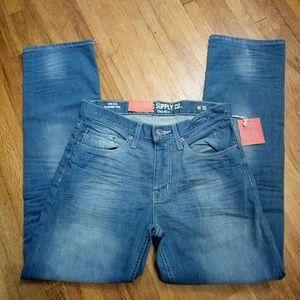 Men's Blue-Gray Color Slim Straight Size 30x32