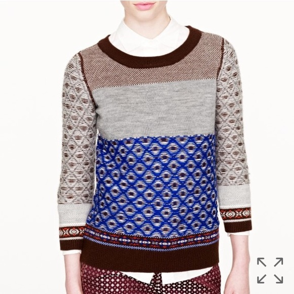 J. Crew - J. Crew Inside Out Fair Isle Wool Sweater from Lauren's ...