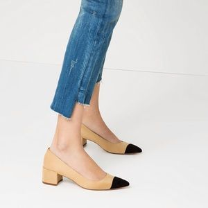 ZARA Two Tone Color Block Chunky Heels
