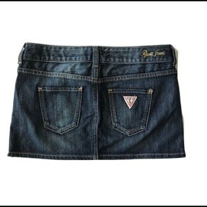 Guess Jeans denim mini skirt zippered Sz 26 jean