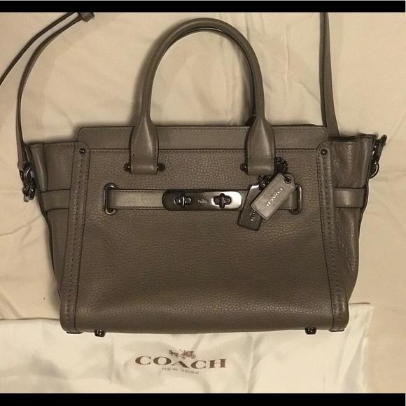 5be47fed44602 Coach Handbags - COACH SWAGGER 27 BAG- TAUPE   GUNMETAL