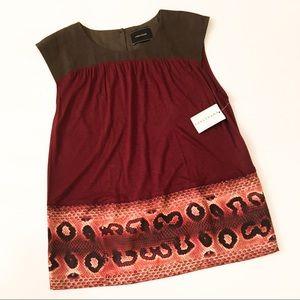 NWT Longchamp Paris Printed Silk Top