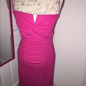 Hot pink dress by Nicole Miller Collection