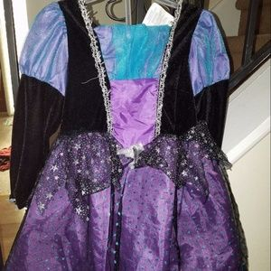 🎃Little girls witch dress and headband/hat