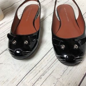 MARC by Marc Jacobs Patent Slingback Flats