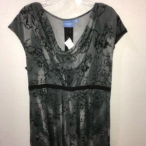 Simply Vera Wang Blue Floral & Lace Dress! XL