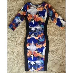 RIVER ISLAND LIMITED ED.Midi w/Panels/BODYCON-NWOT