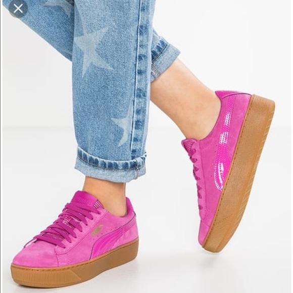 puma schuhe vikky platform rosa