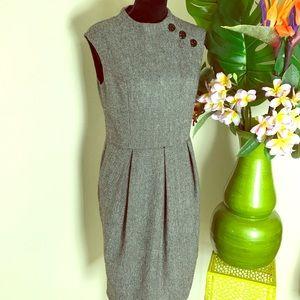 Kay Unger black & white tweed dress sz 8