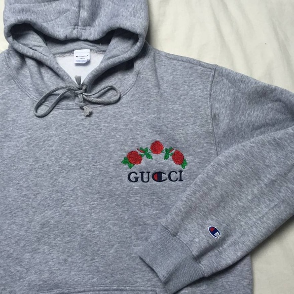 5d317ff83c3 Gucci Tops - GUCCI CHAMPION HOODIE SIZE L BRAND NEW