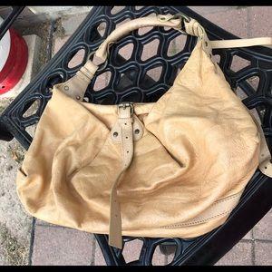 CYNTHIA ROWLEY TAN HOBO LARGE BAG
