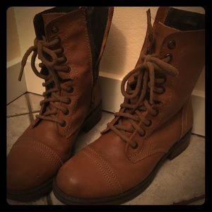 Steve Madden brown leather boots 8.5