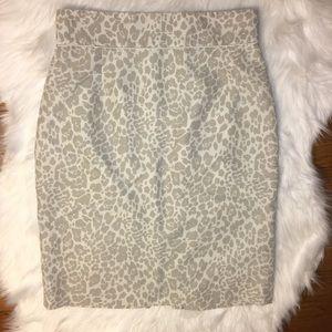 Antonio Melani leopard print pencil skirt