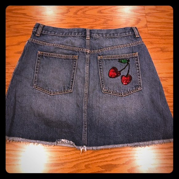 e155e79db Marc By Marc Jacobs Skirts | Marc Jacobs Jean Skirt With Cherries On ...
