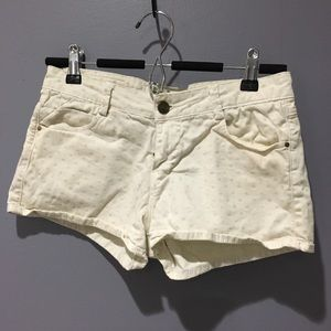 Zara Off White Shorts