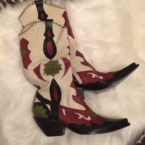 BCBG Girls leather western boot