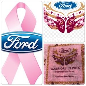 NWT Pink Warrior Cotton Scarf by Ford