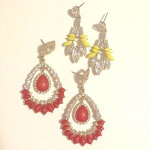Jewelry - Two fashion statement earrings