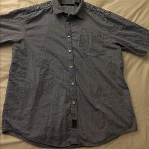 Sean John blue short sleeve shirt size 3XL