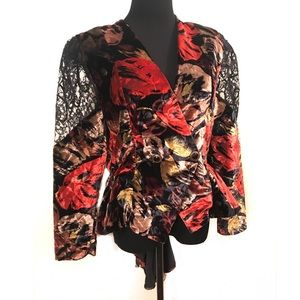 Perfect vintage velvet peplum dress jacket
