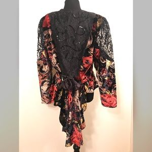 Vintage Jackets & Coats - Perfect vintage velvet peplum dress jacket