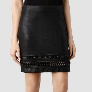 All Saints NWT Black Taura Skirt Metal Hardware