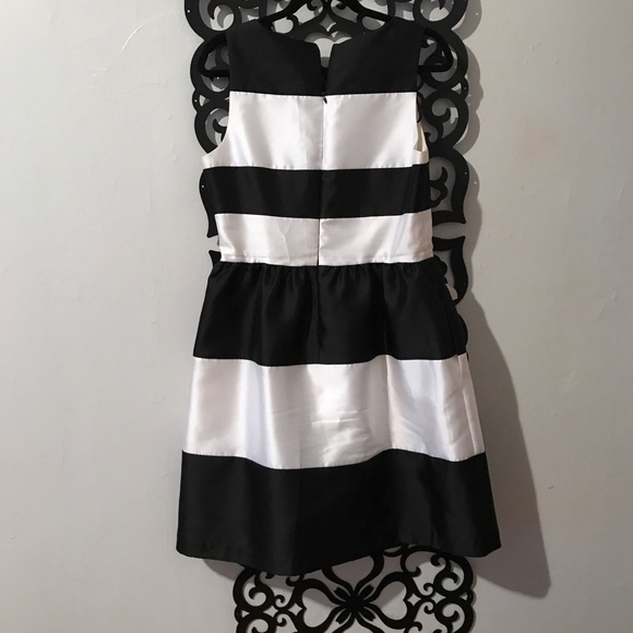 suzy chin Dresses - Black and White Stripe tea dress