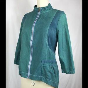 XCVI over dyed linen jacket NWOT size XL