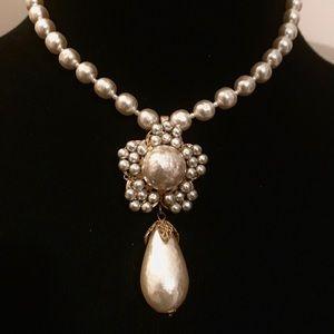 Vintage Baroque Pearl Choker