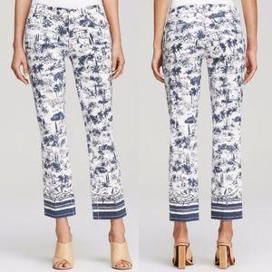 Tory Burch New Ivory Frenesi Scenic printed pants