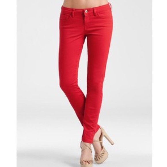 Brittney Skinny Guess Red Jeans