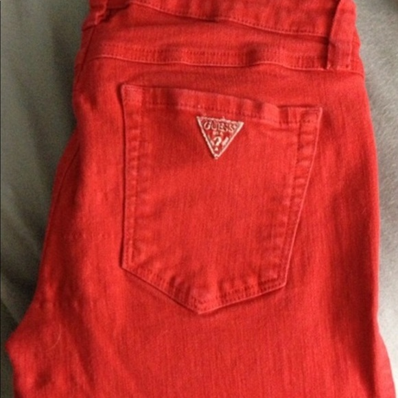 Guess Jeans - Brittney Skinny Guess Red Jeans