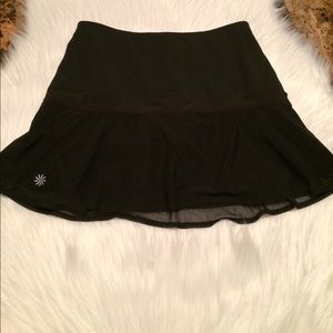 Athleta  Skorts sz XXS With Sheer skirt