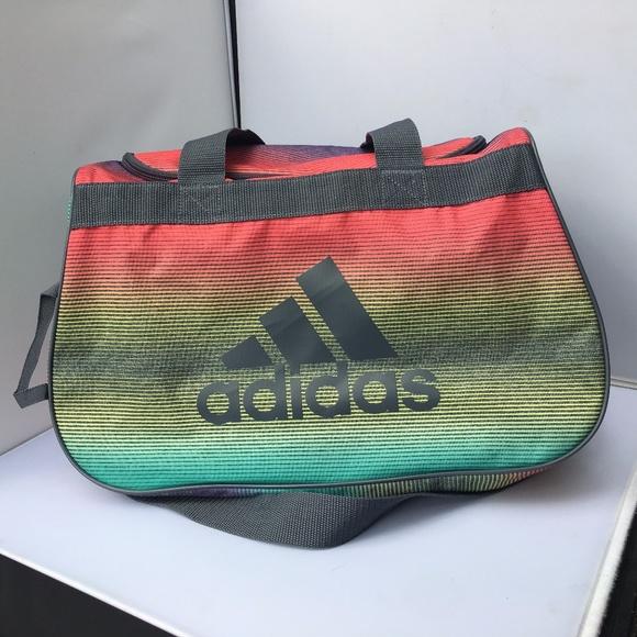 adidas Handbags - Adidas Diablo Neon Rainbow Ombre Small Duffle Bag d42ae40730219