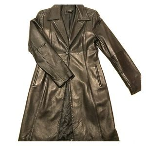 Frenchi Lambskin Leather Trench - Size M