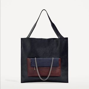 Zara multi-functional tote with pocket