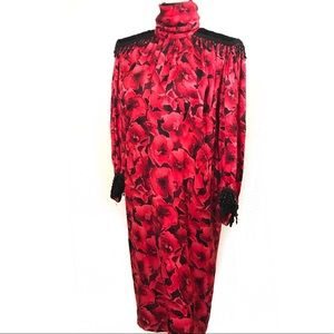 Incredible 80's 100% silk dress